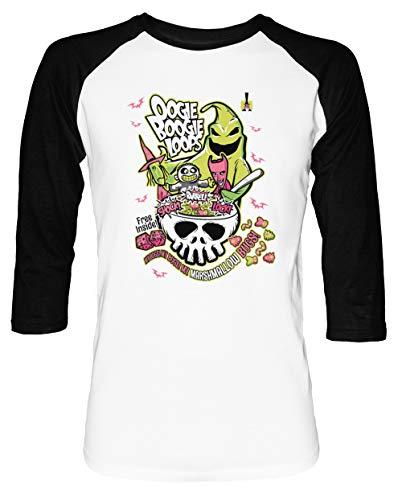 erren Damen Unisex Baseball T-Shirt Weiß Schwarz 2/3 Ärmel Women's Men's Unisex Größe M Men's White T-Shirt Medium Size M ()