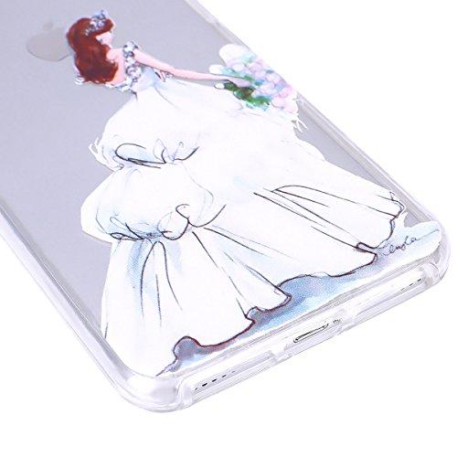 iPhone 7 Plus Hülle,SainCat iPhone 7 Plus Silikon Hülle Ultradünn Weich Transparent Plastik Handyhülle Gel Combo Schutzhülle [Kratzfeste, Scratch-Resistant] Ultra Slim Dünn Kristall Handytasche Weich  Weiße Hochzeit Mädchen