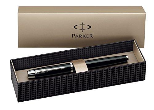 Parker S0856180 Füllfederhalter IM schwarz C.C, Strichbreite F, schreibfarbe blau