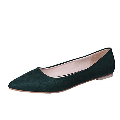 XTIAN , chaussons d'intérieur femme vert foncé