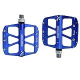 ERLIANG Rennrad Mountainbike Fahrrad Pedal Aluminium Pedal DREI Palin Volllager (EIN Paar),Blue