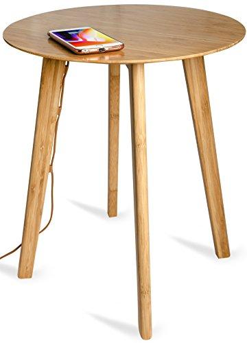 WoodPuck: Edición Bambú Cargador Inalámbrico Con Tecnología Qi para...