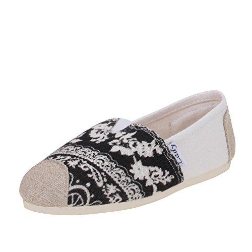 Mädchen Schuhe, HALBSCHUHE, ESPADRILLES MOKASSINS SLIPPER, 0015-30D, Textil, Beige Multi, Gr 33