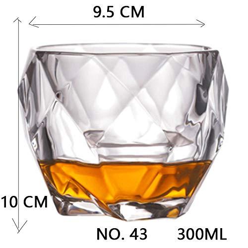 Copa de vinoVidrio de la boda del partido del vidrio cristalino del vino de licor de café de cristal de la taza de té Cervezas Espirituosos vidrios divertidos Gifts@NO.43_300ML Europea