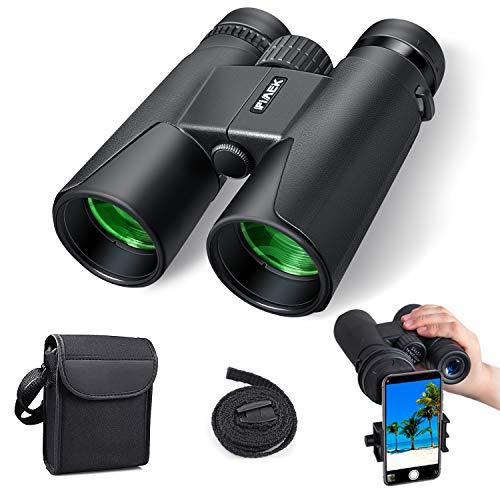 Jumelles pour adultes, 10x42 Jumelles compactes HD avec support de téléphone intelligent pour...