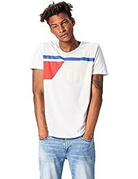 FIND Camiseta con Dibujo Geométrico Para Hombre