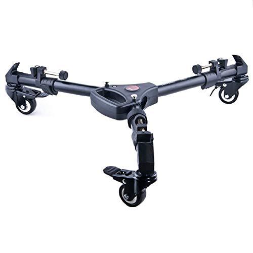 CAR SHUN Stativ-Dolly, Faltbare Kamera-Stativ-Dolly-Standfuß mit tragbarer Tasche für jedes Standard-Stativ