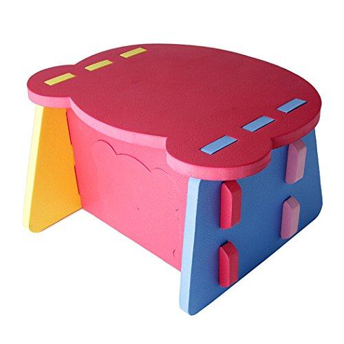outgeek EVA Foam Tisch und Stuhl Kinder Möbel Spielzeug einfache Montage (Desk)