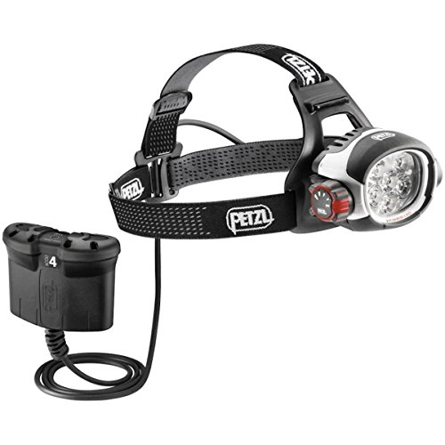 Petzl ULTRA RUSH BELT - Linterna (Headband flashlight, LED, Negro, Color blanco, IP67, Ión de litio)