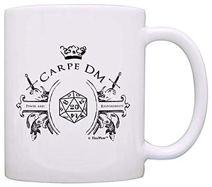 Gamer Mugs Game Master Carpe DM Funny D20 Criti...