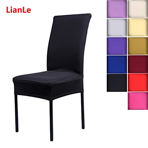 best lianle housse de chaise stretch couverture de chaise extensible housse pour chaise de salle. Black Bedroom Furniture Sets. Home Design Ideas