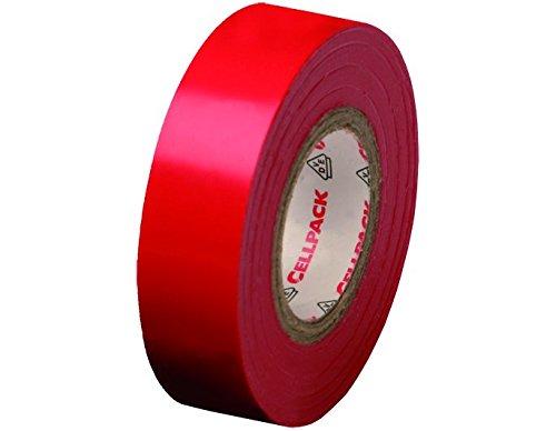 Cellpack 1458271280,15-15-10, Nastro D Elektrische Isolierung PVC, rot