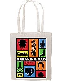 Breaking Bad Colorful Design Fan Artwork Tote Shopping Bag