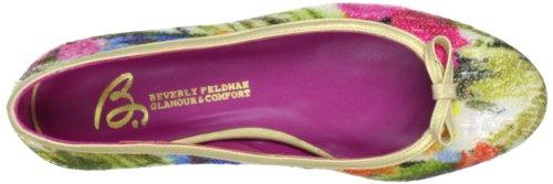 Beverly Feldman 50126-710-685, Ballerines femme Beige (Floral Sequins)