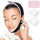 Adelgazante Facial Vendajes de Cara facial que adelgaza corrección facial cinturón Antiarrugas V cara mejilla barbilla levantar banda Parche para levantamiento de la cara