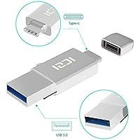 ICZI Adaptador USB C a USB 3.0+Lector de tarjeta de memorias micro SD con OTG, convertidor usb tipo c de aluminio con contactos niquelados, una tapita hermética para usb c y un llavero