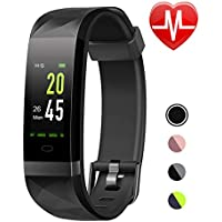 LETSCOM Fitness Tracker HR Color Screen, Heart Rate Monitor, IP68 Waterproof Smart Watch with Step Counter Sleep Monitor, Pedometer Watch for Men Women Kids