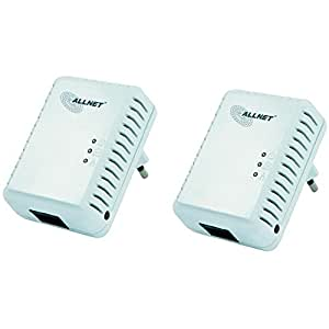 Allnet ALL168250 Powerline Homeplug AV Adapter (500Mbps, 1x RJ45 10/100Mbps, 2er Pack)