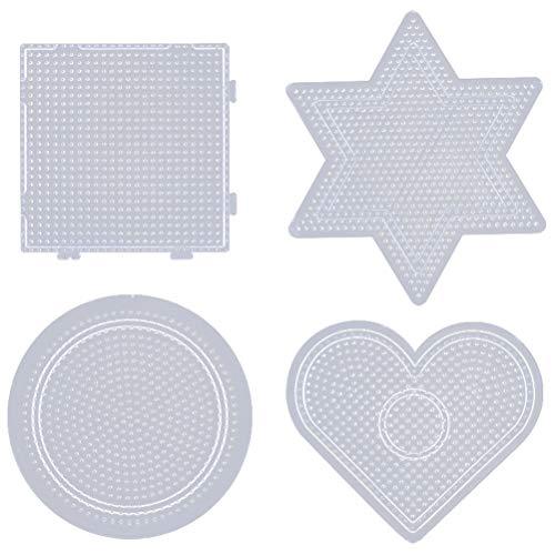 Healifty 2,6mm Sicherung Perlen Boards Transparente Kunststoff Pegboards DIY Pädagogisches Werkzeug für Kinder Kinder Handwerk Perlen 4 Pcs