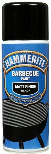 HAMMERITE Bbq Paint Aerosol 400ml Black Matt