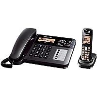 Panasonic KX-TGF120 DECT Negro - Teléfono (Teléfono DECT, Altavoz, 100 entradas, Negro)