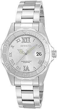 Invicta Pro Diver Women's Wrist Watch Stainless Steel Quartz Silver Dial - 1