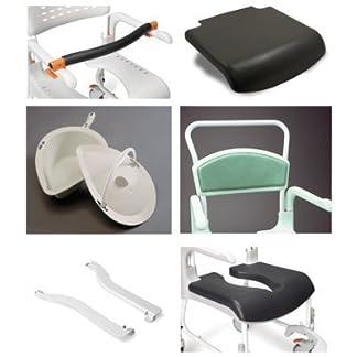 413cT4RAD%2BL. SS324  - Etac(r) Clean silla de ducha con ruedas para inodoro, kit de adaptador de rueda trasera, silla de baño para movilidad y conveniencia, higiénica para el baño para personas mayores, discapacitadas, un
