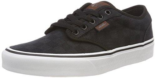Vans Herren Atwood Checkerboard Sneaker, Schwarz ((Check Jacquard) Black/White Rd4), 40.5 EU - Vans Schuhe White Slip-on Herren