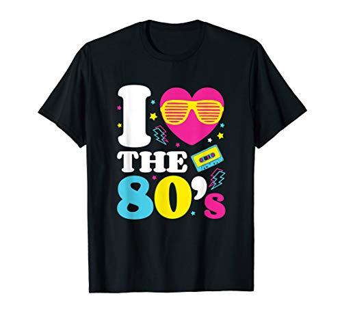 Liebe 80er Jahre Ich Kostüm - 80er's Pop Art Kostüm T-Shirt Ich liebe die 80er Jahre