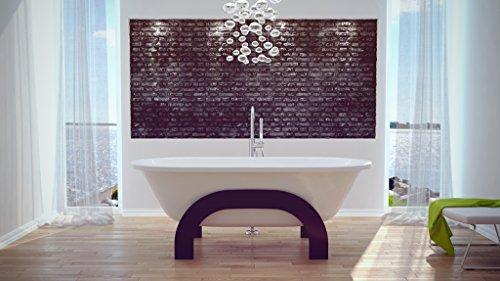 EXCLUSIVE LINE® Retro Freistehende Badewanne Oval Wanne GRACIA 185x83 cm mit Ablaufgarnitur Farbe: Messing im SET
