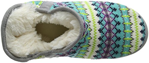 Dearfoams - Fairisle Bootie With Microsuede Trim And Memory Foam, Pantofole Donna Multicolor (Cool Combo 10401)
