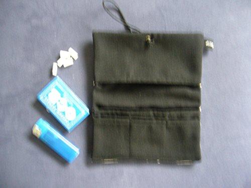 Büroteuse Tabaktasche / Drehertasche im Tierfell-Karo Design, jede Tasche ein Unikat! Tierfell-Karo