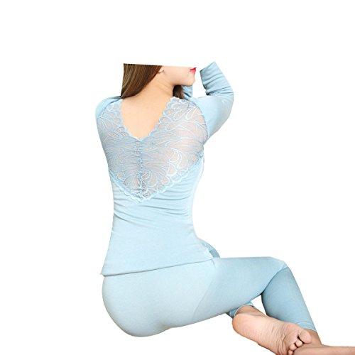 Tang moine, Frauen, Dünner Abschnitt, Körper, Spitze, Dessous,Blue | 07703734116025