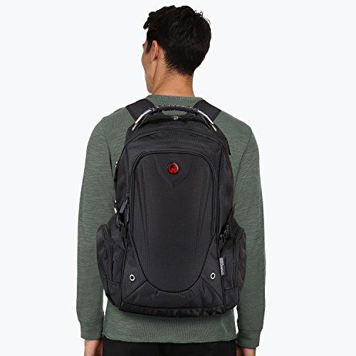 Laptop Rucksack Männer. Für Herren und Damen von Camden Gear. Schulrucksack – Uni Laptoprucksack für die Schule – Laptop – Wandern. Wasserdicht, Top mit mehreren Fächern. Schwarz - 9