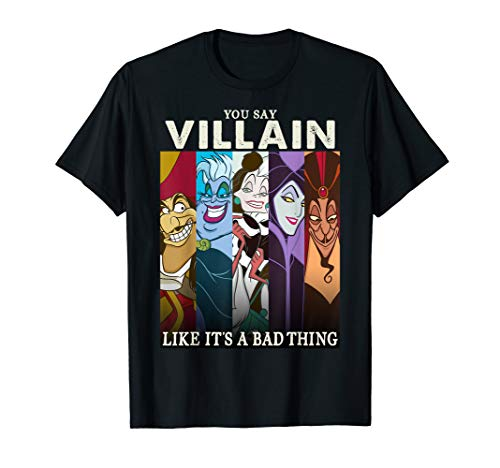 Disney Villains Disney Villains Colorful Group Shot Humor T-Shirt