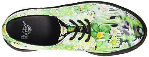 Dr. Martens 1461 Slick Backhan, Scarpe Stringate Basse Brogue Donna Multicolore (Green Paint)