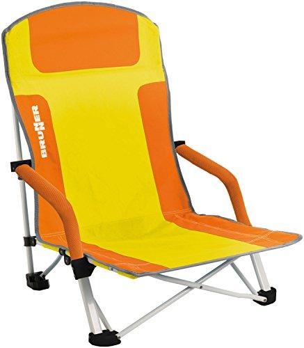 Brunner Bula Chaise de plage (orange/jaune)