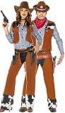 Fancy Me Coppia di Costumi da Cowboy da Cowgirl per Carnevale Occidentale, da Donna e Uomo, Colore Marrone