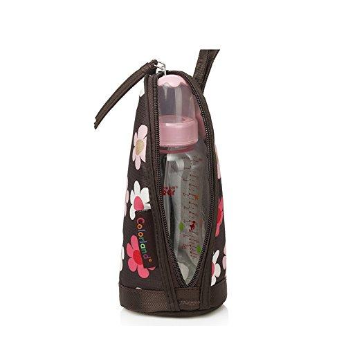 Yvonnelee Spezielle Isoliertasche Isolierte Isoliert Isolier Tasche Kühltasche Thermotasche für Babyflaschen Babyflasche 420D Nylon Wasserabweisend Leicht Baby Babypflege Zubehör 9/10/21cm Marineblau