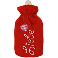 Wärmflasche mit Fleecebezug 2000ml LIEBE 409981 preisvergleich bei billige-tabletten.eu