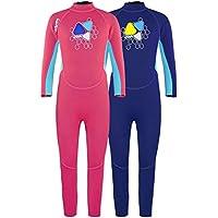 LayaTone Traje de Neopreno para Niñas Niños Boy Traje de Neopreno de Buceo Premium de Neopreno de 2 mm Traje de Baño de una Pieza de Protección UV Juvenil Traje Térmico Completo para Nadar