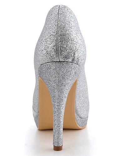 WSS 2016 Chaussures de mariage-Noir / Bleu / Jaune / Rose / Violet / Rouge / Blanc / Argent / Or / Beige / Amande-Mariage / Habillé / Soirée & 4in-4 3/4in-almond