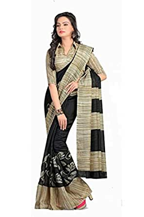Ishin Silk Saree (Ishsp-112_Black & Beige)