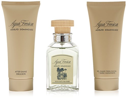 Adolfo Dominguez Agua Fresca Eau De Toilette 120Ml Vapo. + After Shave 100Ml + Gel 100Ml