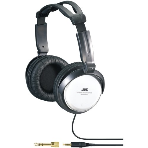 Jvc Harx500 Full-Size Around Ear Headphone 40mm Neodymium Driver Twist Action Structure for Comfortable Listening, 11.48ft Cord