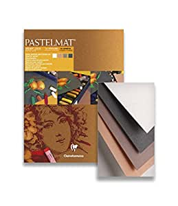 Clairefontaine PastelMat 30 x 40 cm Pastel Card Pad No2, 360 g, Assorted Colours, 12 Sheets