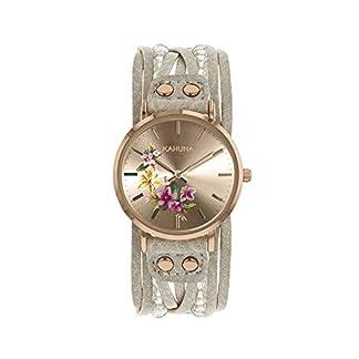 Kahuna – Reloj de pulsera para mujer, color oro rosa y gris