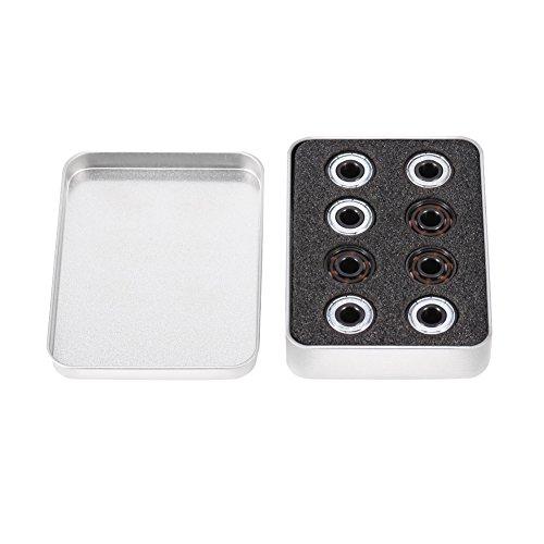 Akozon Xinrub Miniaturlager, 16pcs/Set Inline Rollschuh High Speed   608 Lager einseitig Schild Keramikkugeln