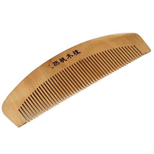 DealMux 2 Breite Holz Farbe Haarpflege Werkzeug Naturholzkamm für die Dame