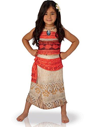 Rubies Vaiana Deluxe Costume, Disfraz infantil, Rojo/Beige, S (3-4 años, 104 cm) (630512-S)
